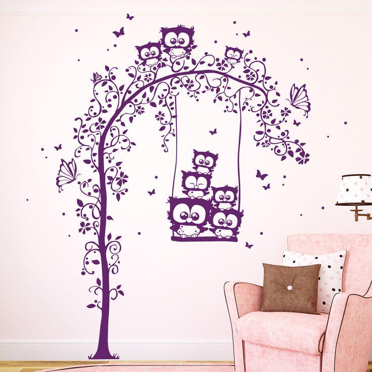 41 besten wandtattoo eulen bilder auf pinterest. Black Bedroom Furniture Sets. Home Design Ideas
