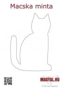 Macska mintás párna - ajándék ötlet - Magyal.hu