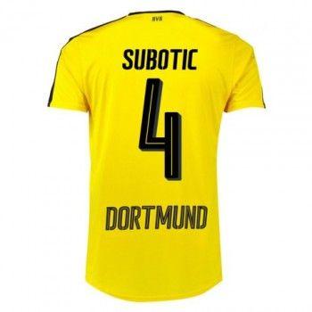 BVB BoRyssland Dortmund 16-17 Neven Subotic 4 Hemmatröja Kortärmad  #Fotbollströjor