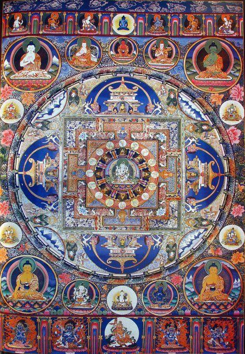 Tibetan meditation thangka