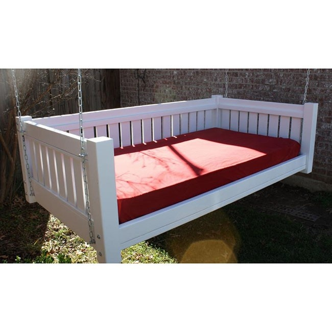 TMP Outdoor Furniture Victorian Hanging Porch Swing Bed