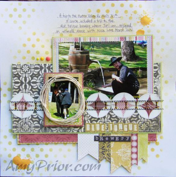 Blue Tongue Brewery by Amy Prior featuring #cartabella & #mymindseye papers #scrapbooking #scrapbook #colorshine #rangerink #distressink #heidiswapp #stencil