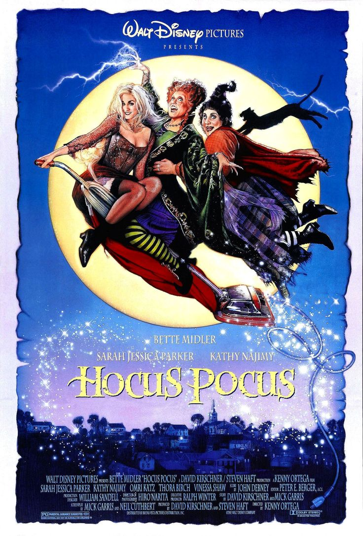 """2. Hocus Pocus (1993) - Family - """"After three centuries, three witch sisters are resurrected in Salem, Massachusetts on Halloween night, and it is up to two teenagers, a young girl and an immortal cat to put an end to the witches' reign of terror once and for all."""""""