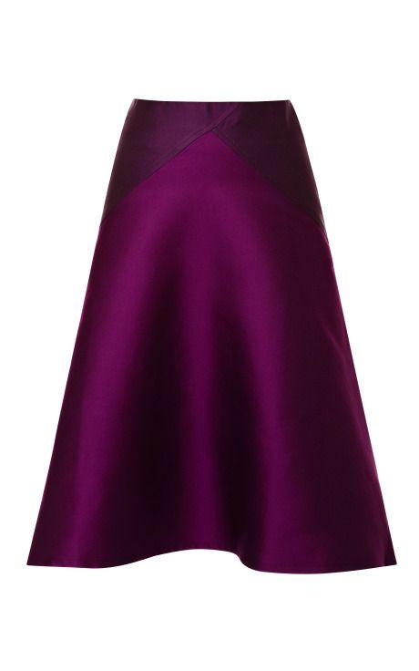Doubleface Jacquard High Waisted Flare Skirt by Ostwald Helgason Now Available on Moda Operandi