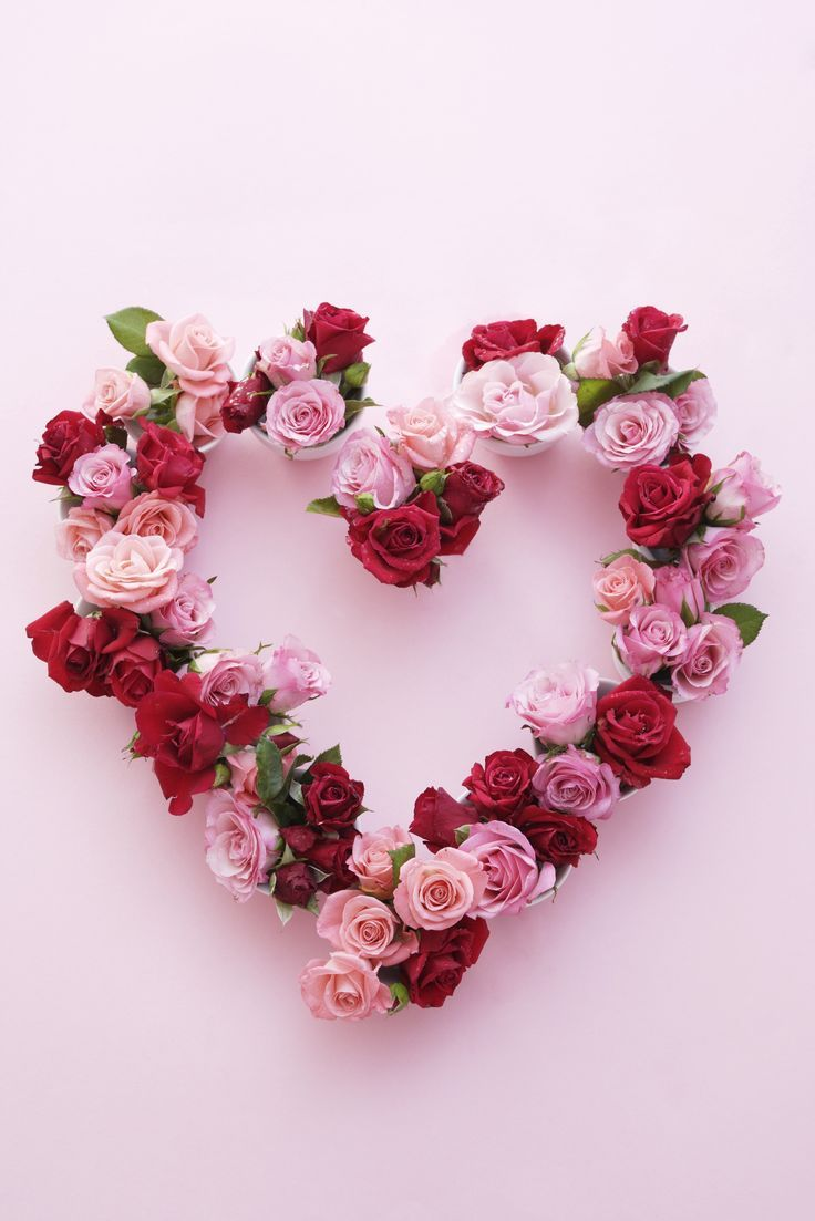 Follow this creative DIY for a rose flower heart wreath to share the love + decorate for Valentine's Day.