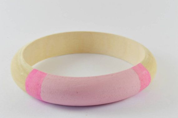 $15 Wood bangle bracelet