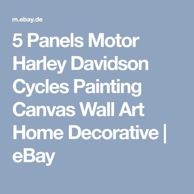 5 Panels Motor Harley Davidson Cycles Painting Canvas Wall Art Home Decorative | eBay