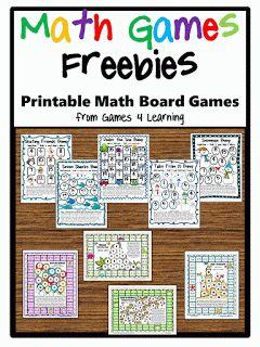 Math games: FREE math math board games packet.