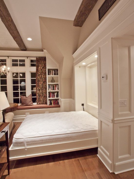Murphy Bed Design, Pictures, Remodel, Decor and Ideas {Great Guest Room Design}