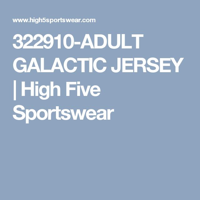 322910-ADULT GALACTIC JERSEY | High Five Sportswear
