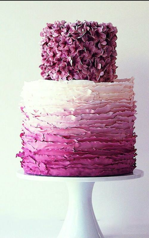 Radiant Orchid Wedding #weddingcake #purple #ombrewedding