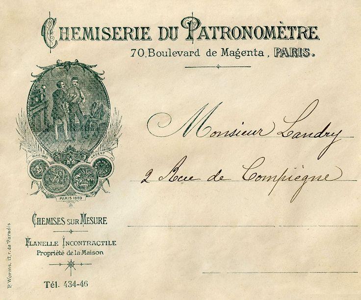 Vintage French Ephemera | Vintage Printable Ephemera - French Envelope - The Graphics Fairy