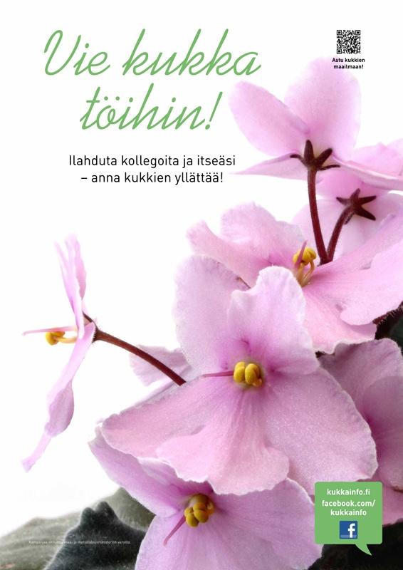 kukkainfo.fi -> Vie kukka töihin! 2012