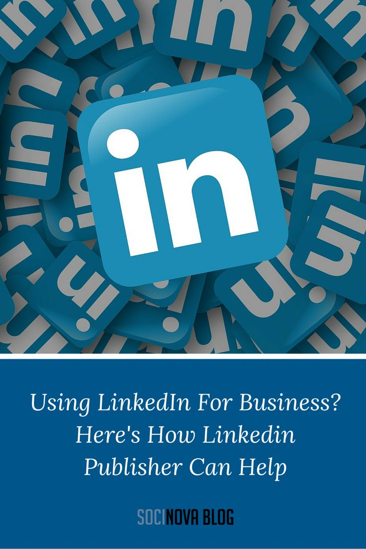 Using these five easy tips, you can use LinkedIn Publisher to generate leads, encourage referrals and, ultimately, get more sales. https://www.socinova.com/blog/category/Social-Media-Marketing-Tips/Using-LinkedIn-For-Business-Heres-How-Linkedin-Publisher-Can-Help