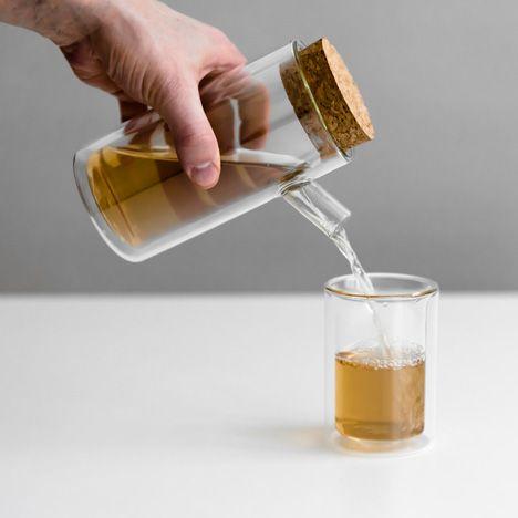 Paul Loebach creates tea set with laboratory glass