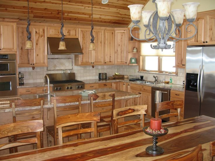 Top 25 ideas about cabins on pinterest land 39 s end log for Cabin kitchen cabinets