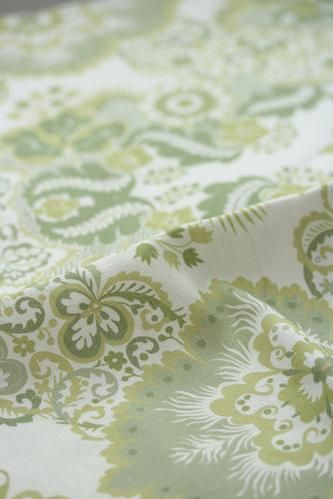 Marchioness Green is a 50% linen, 50% cotton fabric designed and made in the UK that is suitable for upholstery, soft furnishings and curtains