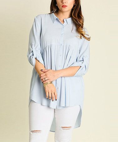 Another great find on #zulily! Sky Button-Up Tunic - Plus #zulilyfinds