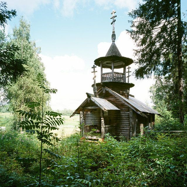 Kokkoila, Karelia region, Chapel of St Barbara (early 18th C) Wooden Churches - Travelling In The Russian North By Richard Davies Part 1