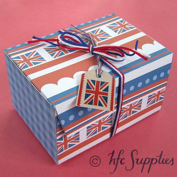 Rule Britannia Printable Gift Box - 2 templates to print and make yourself - hfcSupplies Etsy