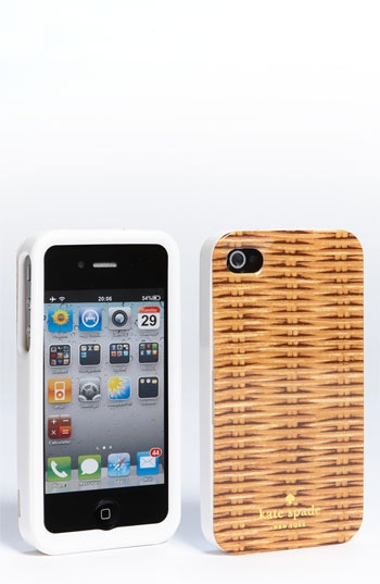 kate spade new york 'wicker print' iPhone 4 & 4S case | Nordstrom. I can't wait to get my iPhone!
