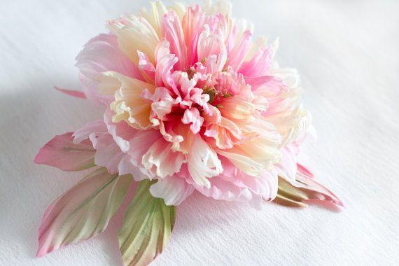 Fabric Flower Peony Wedding flower by FloribundaSilkFlower on Etsy, $148.95