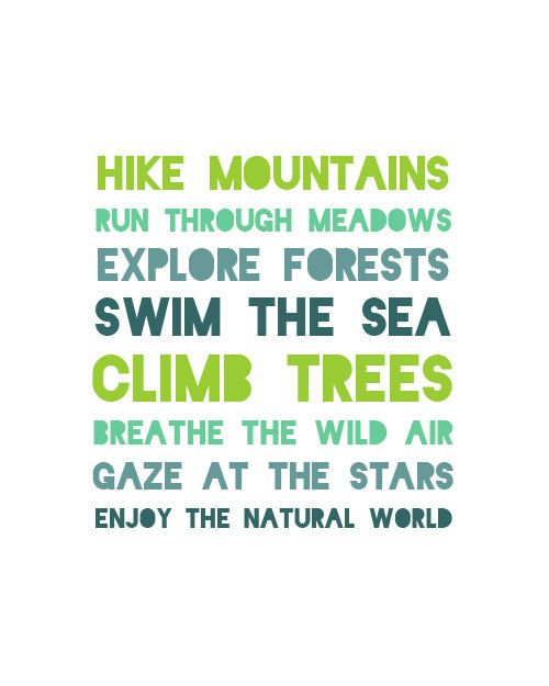 Yes yes yes! Enjoy the natural world