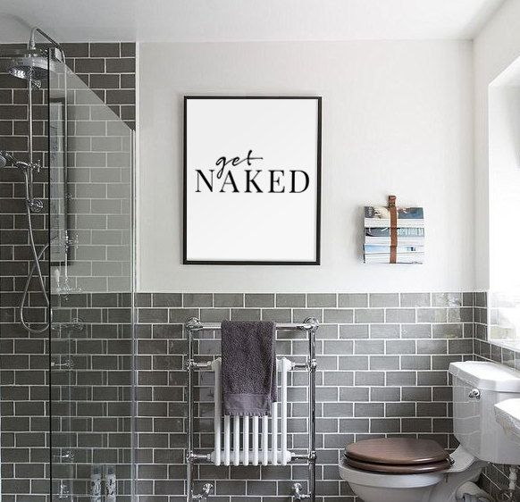 Funny bathroom art - diy project?