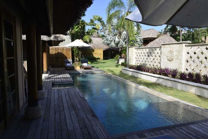 The second pool in the Puri Sienna 4 bedroom villa