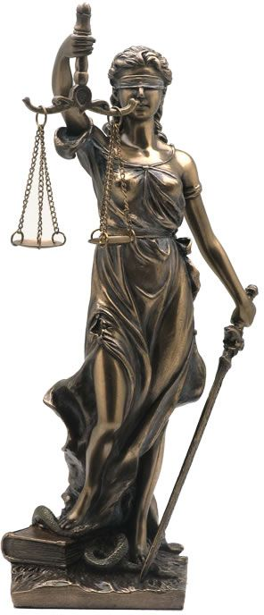 Lady Justice Statue- 7.75 Inch