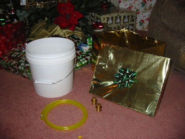 For Christmas and our live tree, how to make a hidden water system