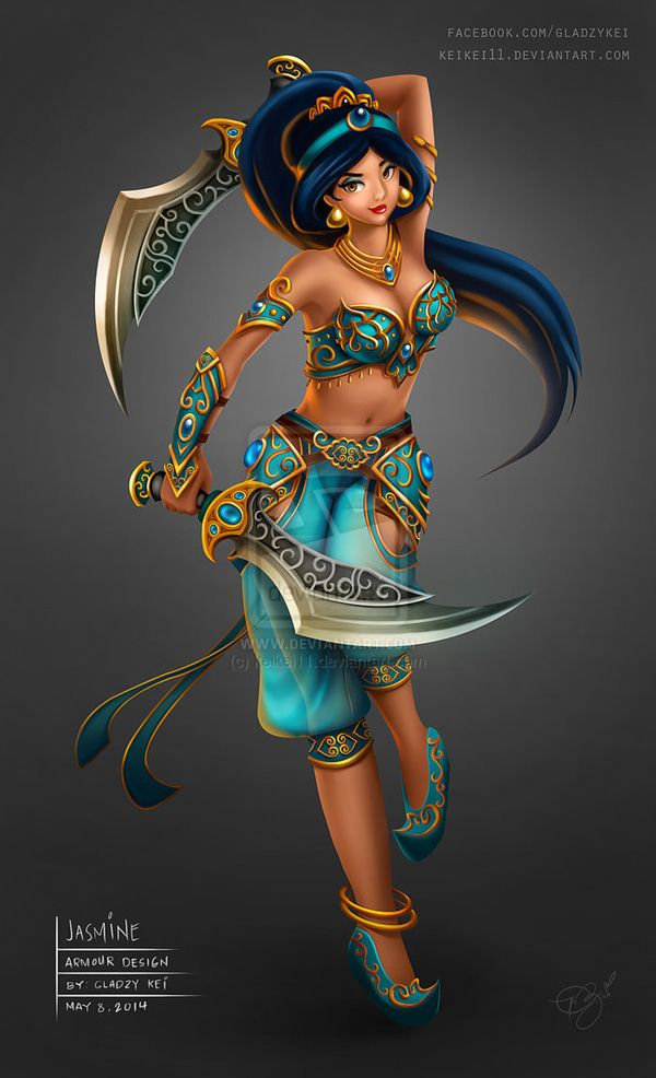 Disney Battle Princess Jasmine Gladzy Kei (https://www.facebook.com/GladzyKei)