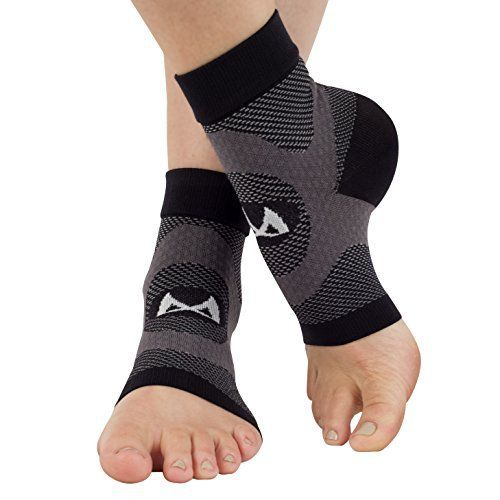 Plantar Fasciitis Sock by Winzone, 2 Socks Pack Heel & Ankle Pain Treatment, Best Arch Support Relieve Pain Fast! Perfect Men Or Women, Compression Sleeves That Brace & Support, Lifetime Warranty XL joint pain relief plantar fasciitis