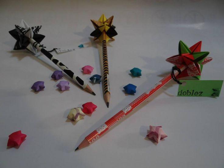 Lapiz estrella - Origami www.facebook.com/dobleZorigami