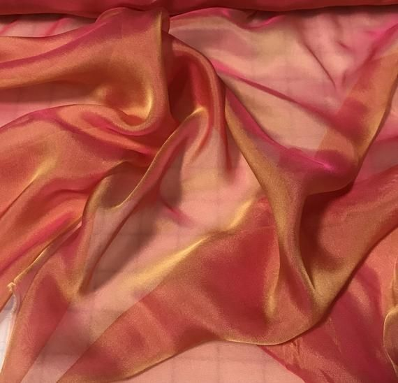 Orange Satin Sheen light//med Stretch Fabric craft Dressmaking Costume Halloween