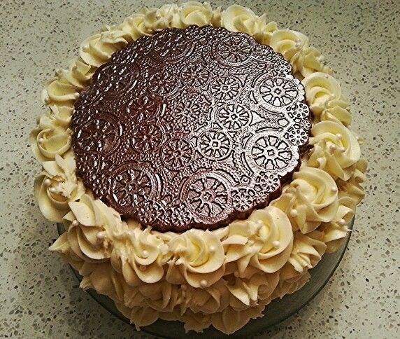 Gâteau au chocolat, creamcheese frosting