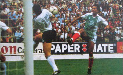 Group stage,one of the biggest surprise in the World Cup history,Rabah Madjer scores 1st goal,Algeria beat West Germany 2-1