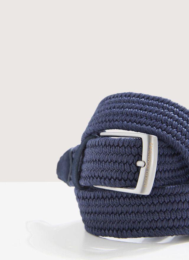 Cinturón trenzado con detalles serraje