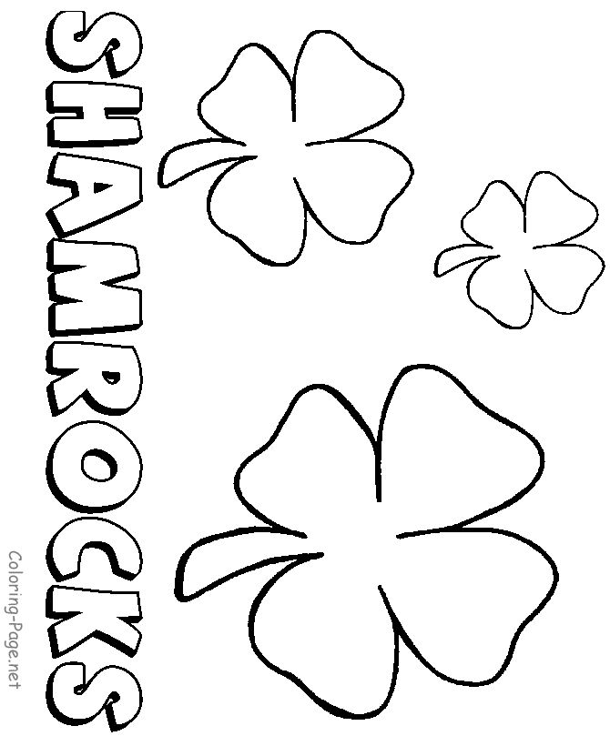 st patricks day coloring pages color shamrocks leprechauns and