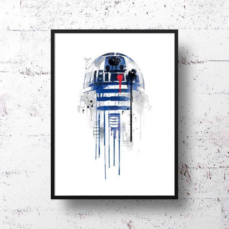 r2d2 watercolor - Google Search