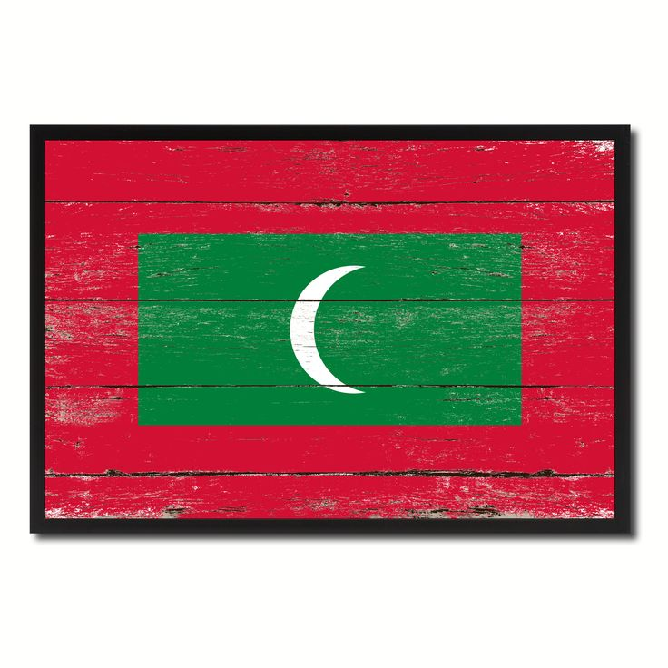 Maldives Country National Flag Vintage Canvas Print with Picture Frame Home Decor Wall Art Collection Gift Ideas