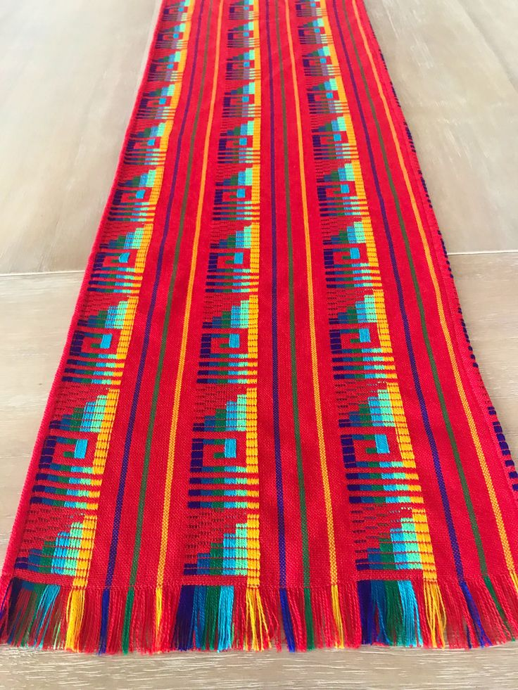 A personal favorite from my Etsy shop https://www.etsy.com/listing/553635041/mexican-tablecloth-runner-or-napkins