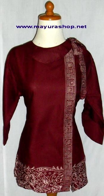 Blus Batik Embos Model Terbaru Baju Kerja Batik Foto