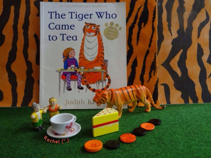 "Early years ideas for the story, 'The Tiger Who Came to Tea' from Rachel ("",)"