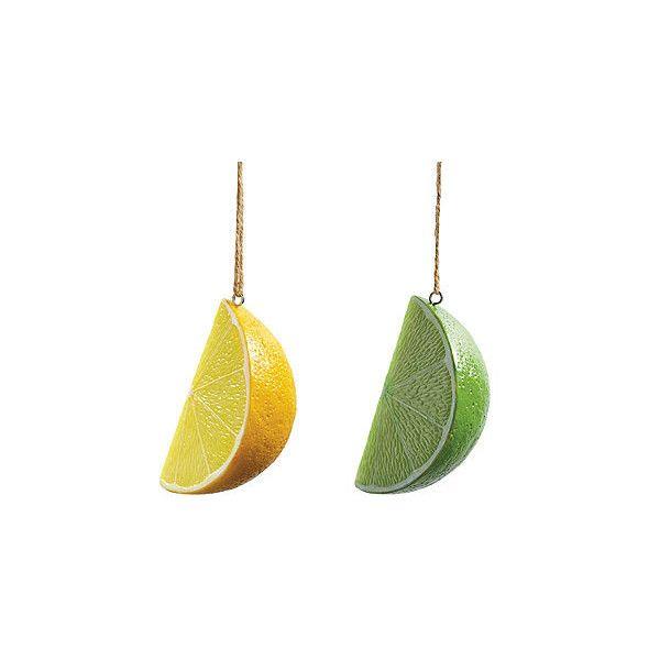 Margaritaville Set Of Eight Lemon And Lime Umbrella Ornaments  ... ($110)