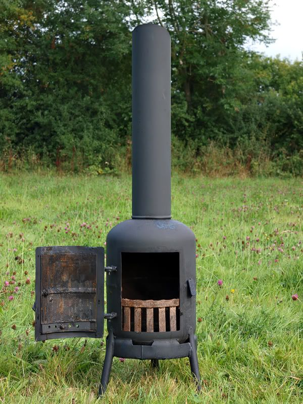 Gas bottle chiminea