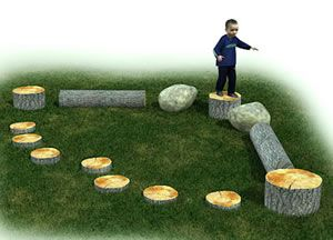 Adventurous Child Preschool obstacle course