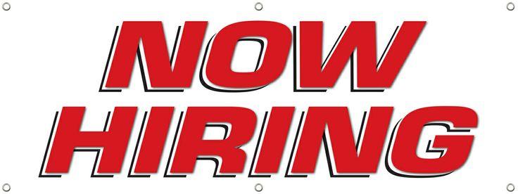 DPSBanners.com - Now Hiring Banner Sign 1300, $29.99 (http://www.dpsbanners.com/now-hiring-banner-sign-1300/)