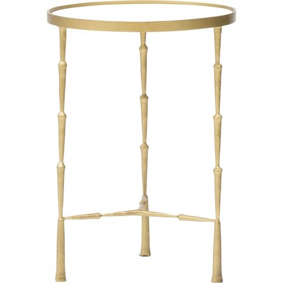 Spike Accent Table, Brass