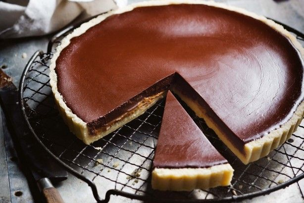 """""""Rich, velvety and decadent, this chocolate tart is the perfect dessert for Valentine's Day!"""" - Manu Feildel"""